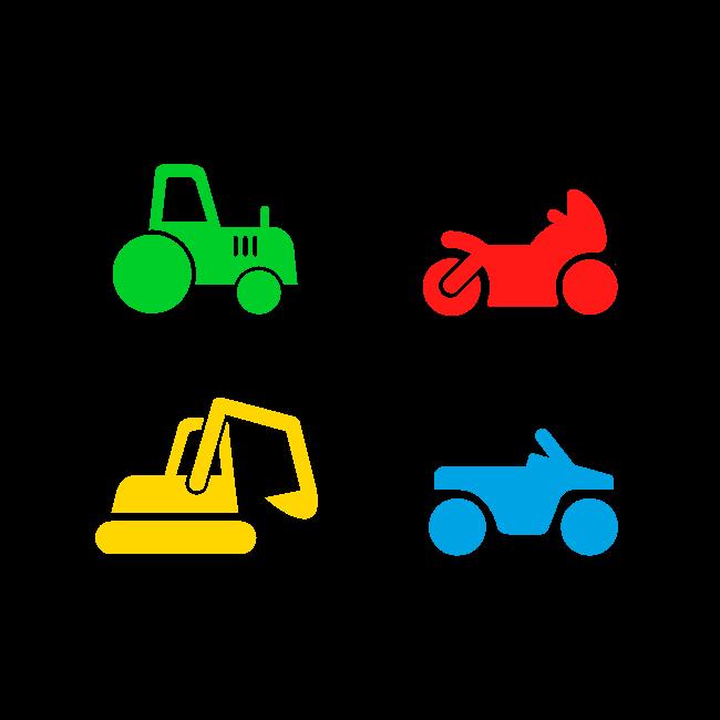 4 pictogrammes de véhicules