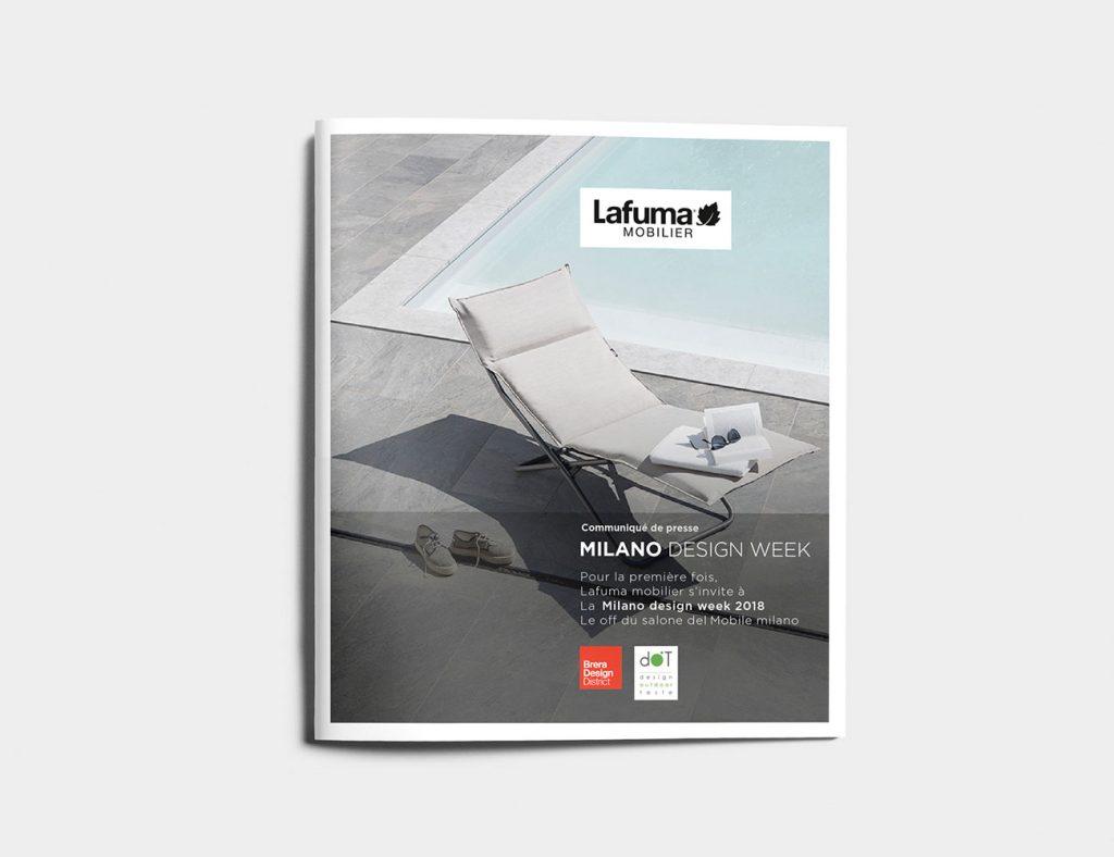 Design de la brochure Lafuma Mobilier