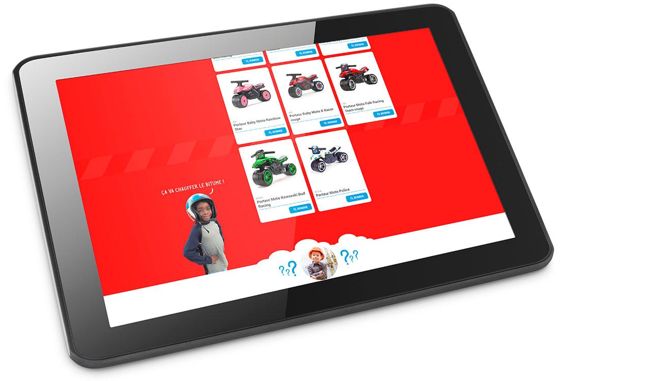 Webdesign sur une tablette