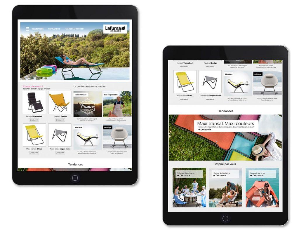 Webdesign Lafuma Mobilier
