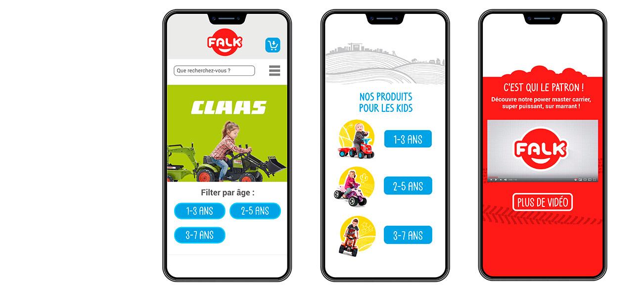 Webdesign sur un smartphone